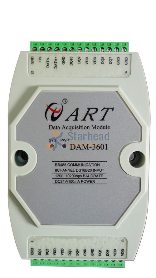 8-ch DS18B20 sensor de temperatura de-55 ~ 125 C RS485 Modbus datos módulo de adquisición Adam carril Din