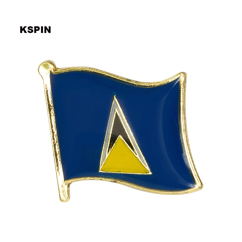 Saint Lucia bandera Pin de solapa insignias para prendas de vestir en parches Rozety Papierowe icono mochila Dropshipping. Exclusivo. KS-0160