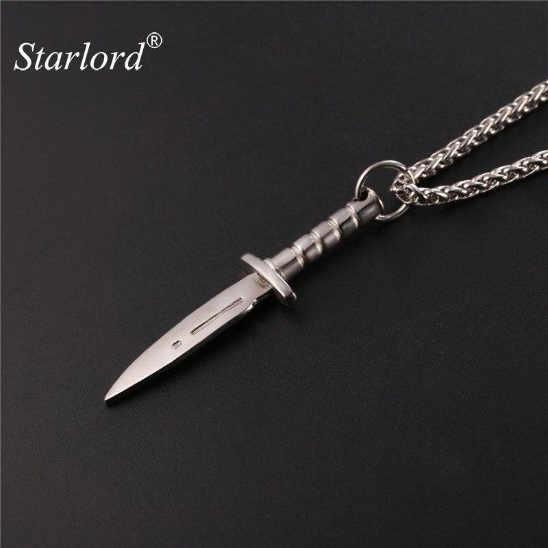 Подвеска Starlord Dagger/ожерелье «меч», из нержавеющей стали, золотой цвет, веревка, цепь для мужчин, оружие, хип-хоп, байкерские украшения, GP2468