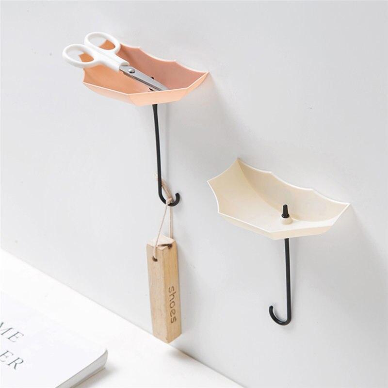 Juego de 3 unidades de colgador de pared con forma de paraguas, colgador de ganchos de pared, organizador de baño duradero, estante de almacenamiento para ropa