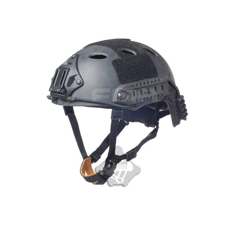2019 FMA de rápido casco táctico para airsoft escalada casco protector Python serie negra PJ modelos TB872