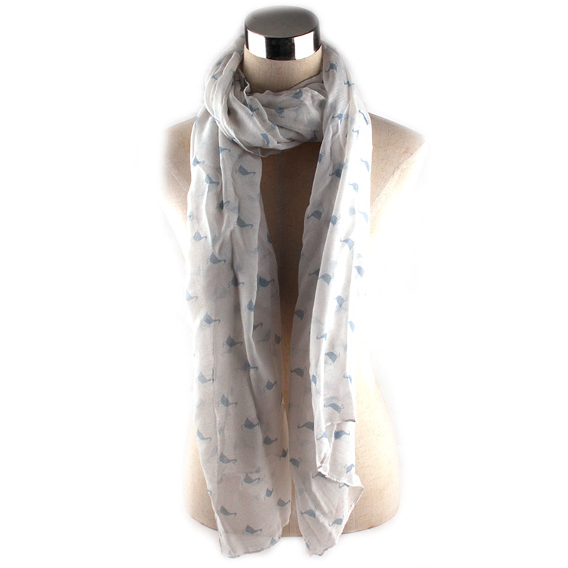 Fashion Women Flowers Scarf Long Soft Floral Wrap Ladies Duck Scarves For Women