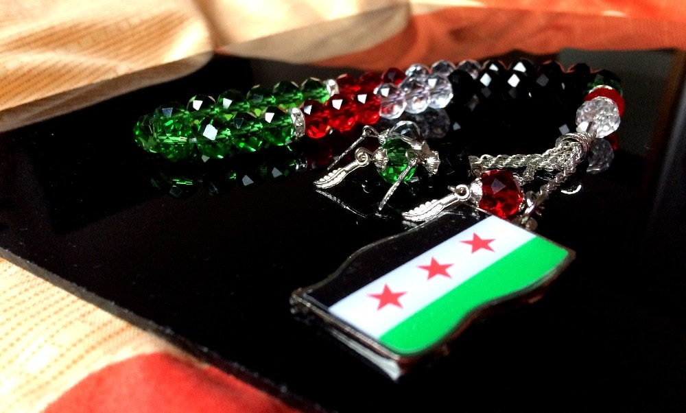 Новинка, сирийский флаг, Syrie tasbih, бесплатная доставка, ювелирное ожерелье, браслет misbaha masbaha islamic tesbih Syrien, подарок sibha