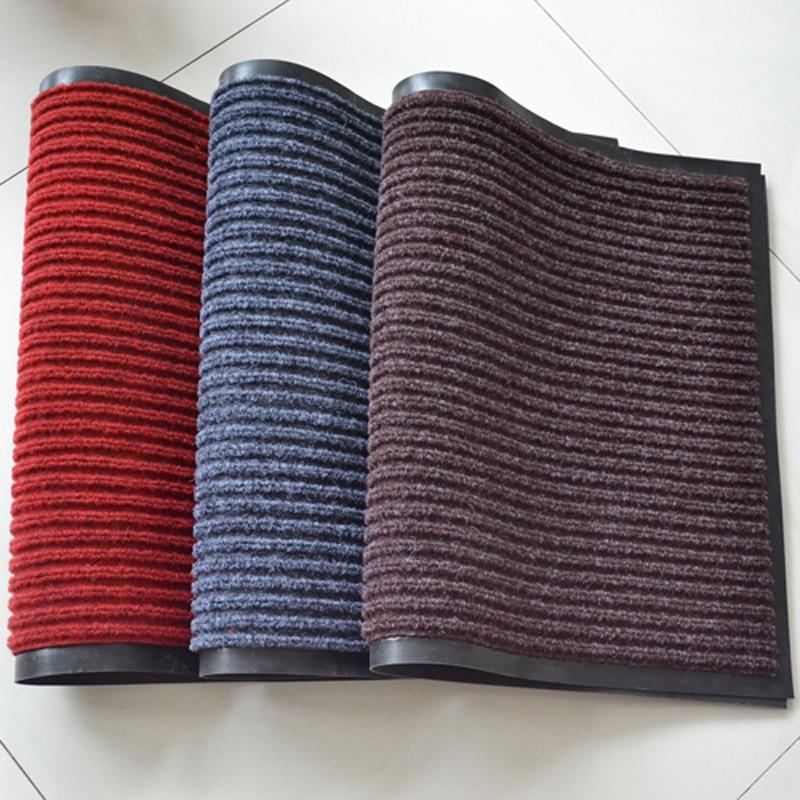 Прочный Коврик для мытья дверей и ковров, двойные полоски, противоскользящая защита от пыли
