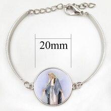 Marque notre-dame de Guadalupe Bracelet vierge mère marie religieux catholique verre dôme Bracelet madonna breloque bijoux cadeau