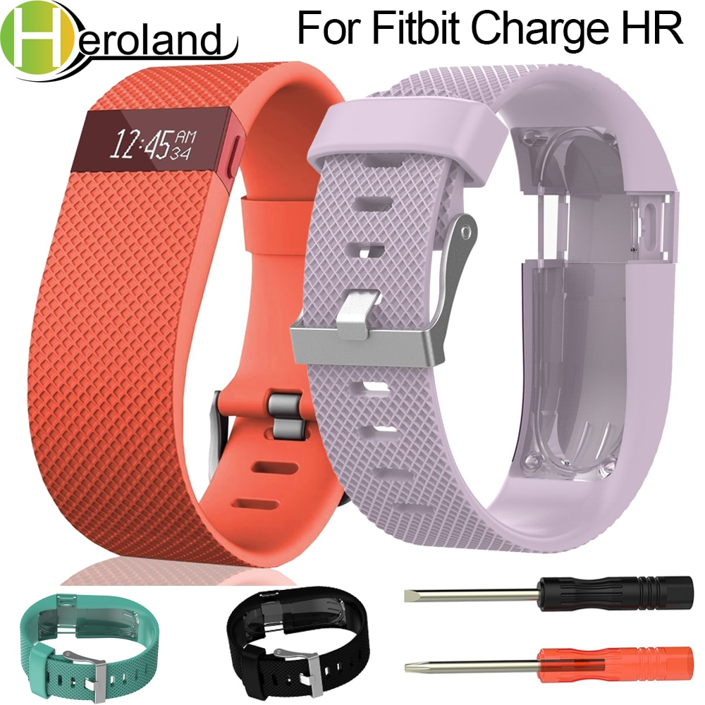 Wrist Band For Fitbit Charge  HR Replacement Watch Strap Silicone Watchband for Fitbit Charge  HR Activity Tracker Metal Buckle men and women sport casual edition soft silicon rubber sports watch band wrist strap for fitbit blaze with metal buckle frame