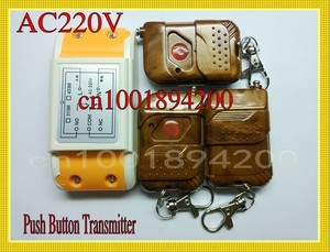 AC220V RF wireless remote control Light/Lamp switch system 1Receiver &3Transmitter 10A Learning code Momentary Toggle 315/433MHZ