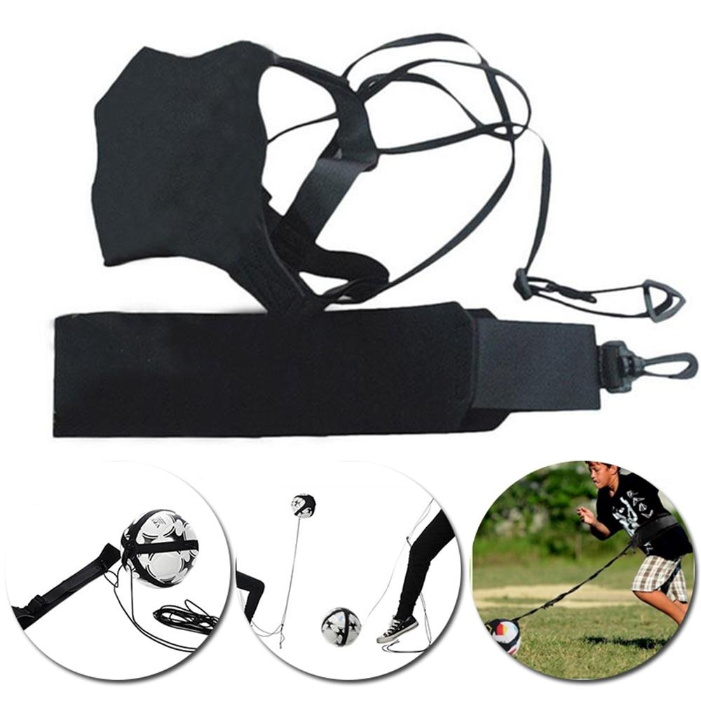 Fútbol Kick Solo cinturón de entrenamiento cintura Control habilidades fútbol practica la ayuda de entrenamiento equipo ajustable