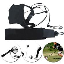 Football coup de pied Solo entraîneur ceinture taille ceinture contrôle compétences Football pratique entraînement aide équipement réglable