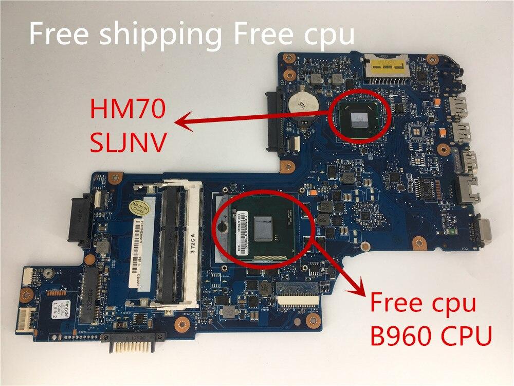 Yourui شحن مجاني H000052740 اللوحة الأم للكمبيوتر المحمول توشيبا Satelite C850 L850 اللوحة الرئيسية SLJNV HM70 DDR3 وحدة المعالجة المركزية الحرة