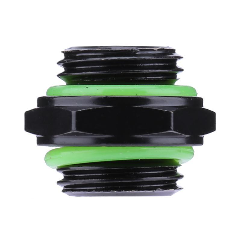 Tubo de rosca doble externo G1/4, 1 Uds., rollo de encaje, diseño de seis esquinas exteriores para PC, tubo de sistema de refrigeración por agua