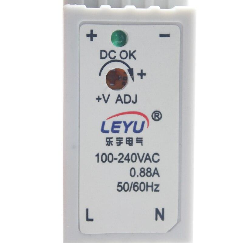 Serie de carril Din de alta calidad led aprobado CE ROHS DR-15-24 fuente de alimentación de conmutación de salida única 24VDC