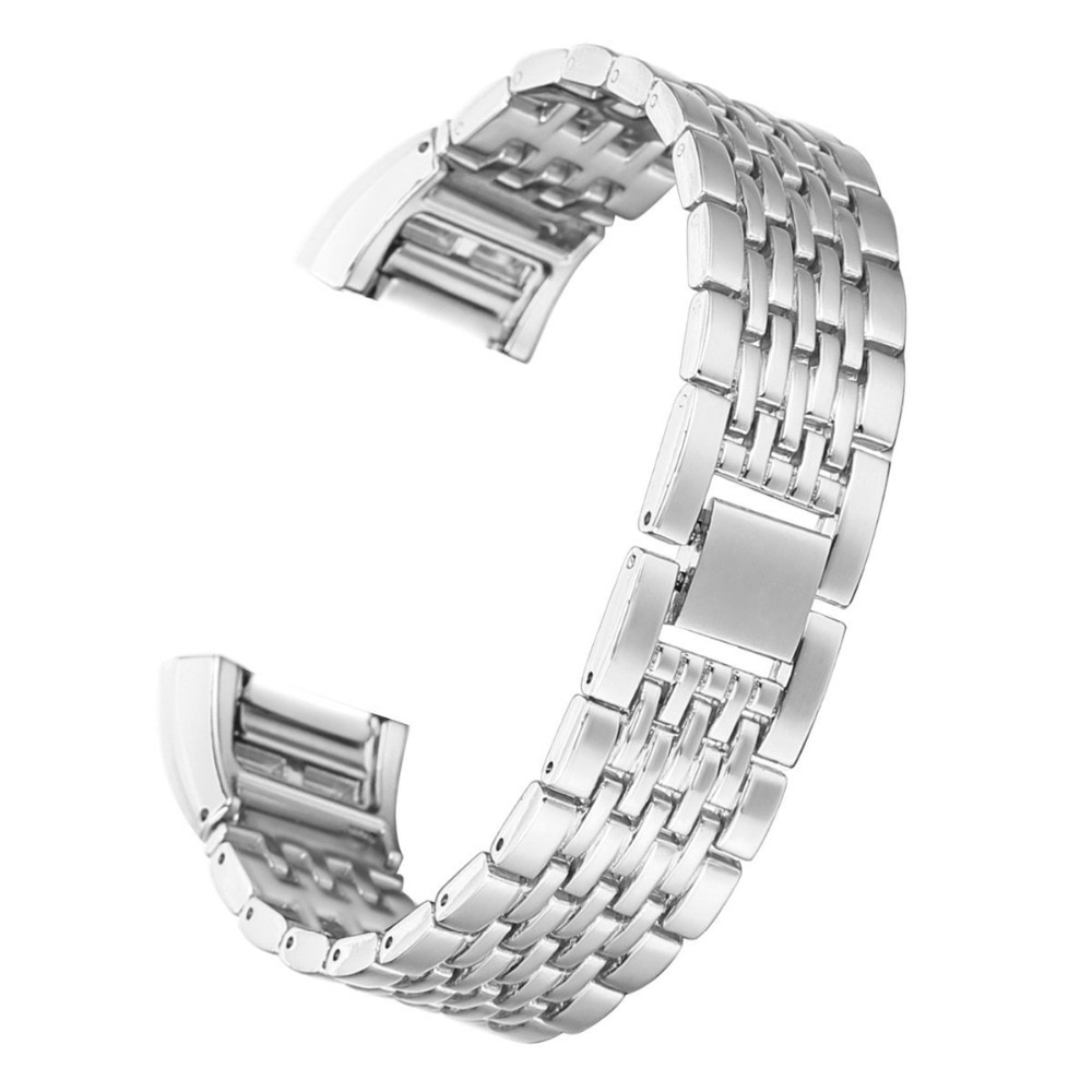 Malla de sustitución bandas de Metal pulsera banda para Fitbit charge 2 Acero inoxidable pequeño grande