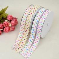 ribbon colored polka dot ribbed ribbon pastry gift box packaging ribbon headdress bow garment accessories material decoration