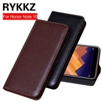rykkz for huawei honor note 10 case flip leather for honor note10 case silicone cover note10 case stand holder 6 95 inch