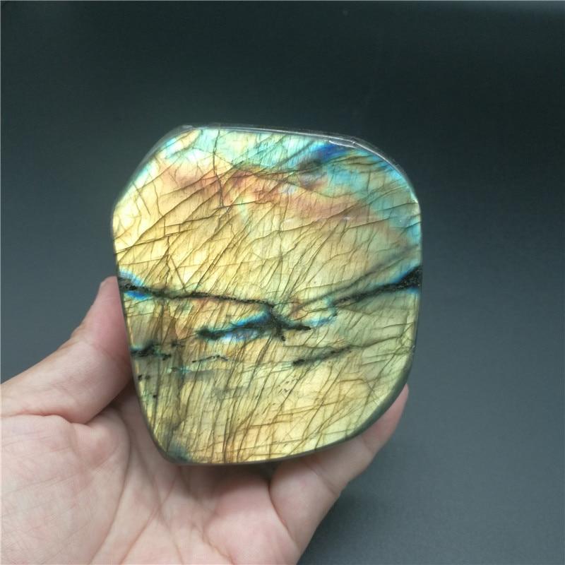 560g Natural Labradorite Crystal Rough Polished From Madagascar