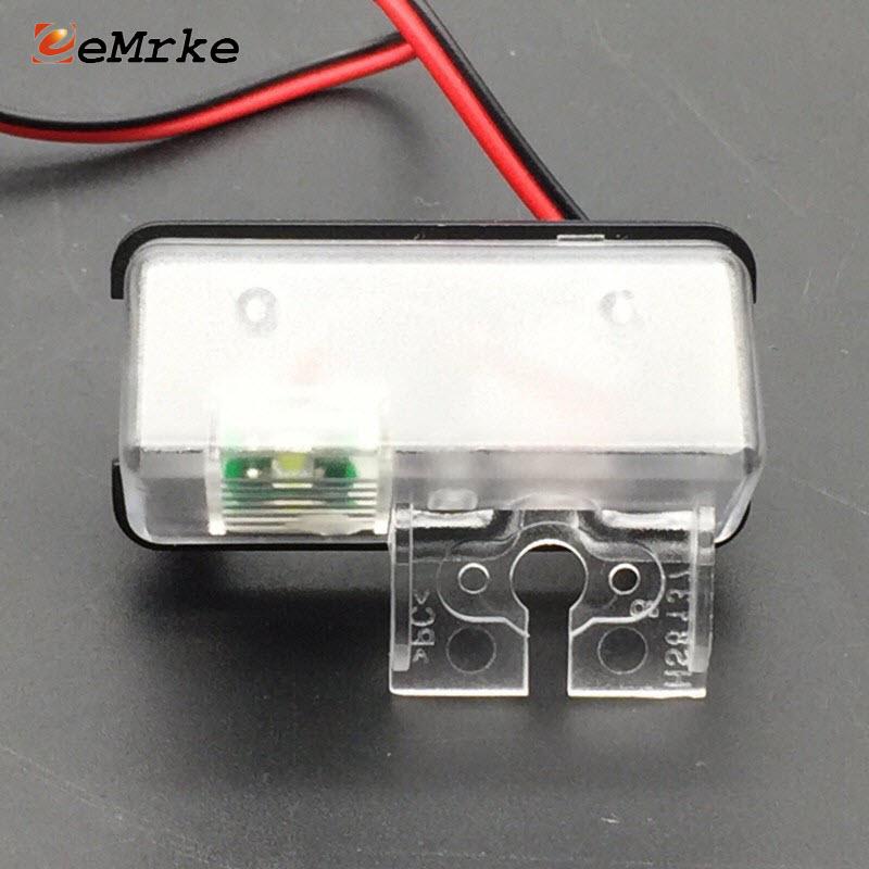 EEMRKE Car Rear View Camera Bracket License Plate Lights Housing Mount with LED for Toyota Highlander (XU50) Kluger 2013-2016