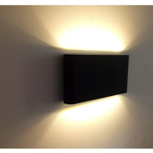 Outdoor Waterproof IP65 Wall Lamp 6W/12W LED Wall Light Modern Indoor/Outdoor Decor Up Down Dual-Head Aluminum Wall Lamp