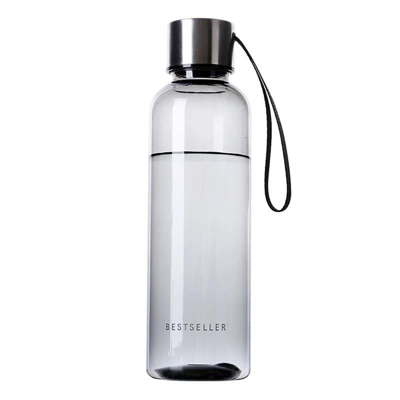 Botella de negocios de 500ml, botellas de zumo de fruta, té, leche, portátil, deportes, Camping, ciclismo, plástico transparente, mis botellas de agua LH8s