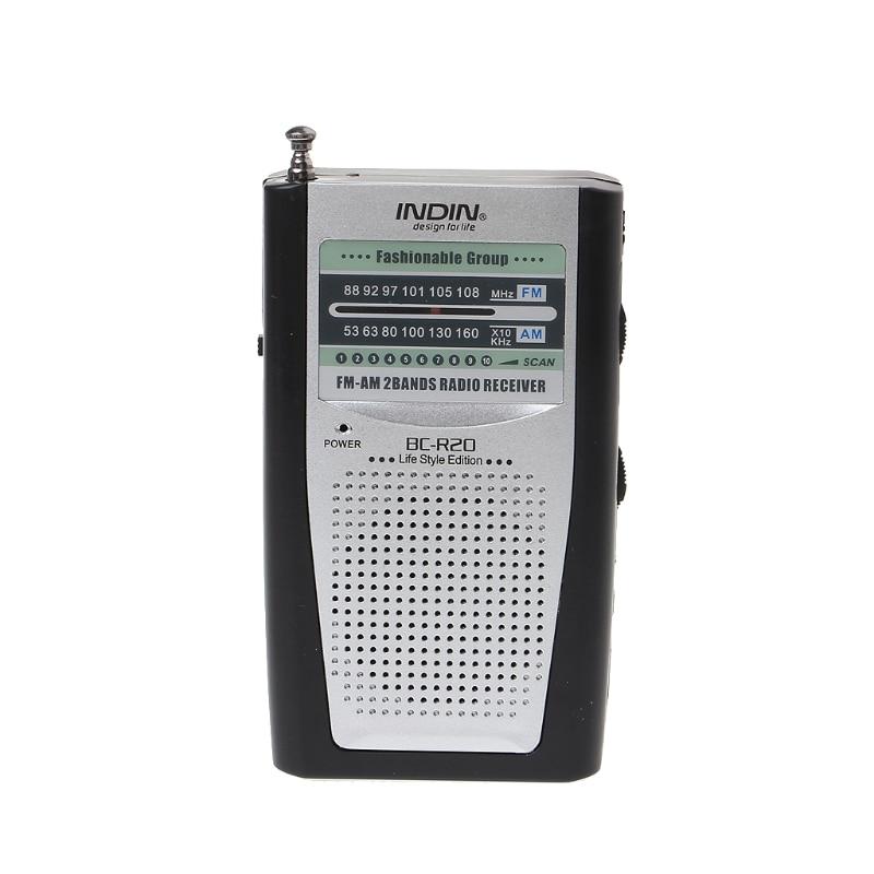 1 stücke Neue Tragbare Mini Radio Schlanke 2-Band AM FM Welt Receiver DC 3 V Teleskop Antenne BC-R20
