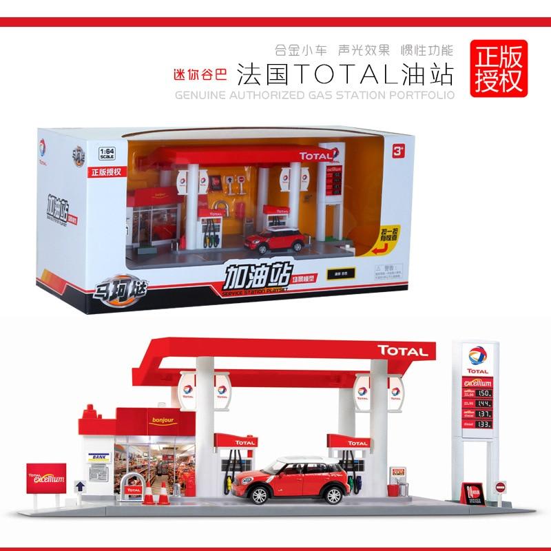 Simulation BPl Oil Station Race X6 Car Model France Total UK BP Combination Children's 911 Inertia Kid Boy Toy Car Model Set Z4