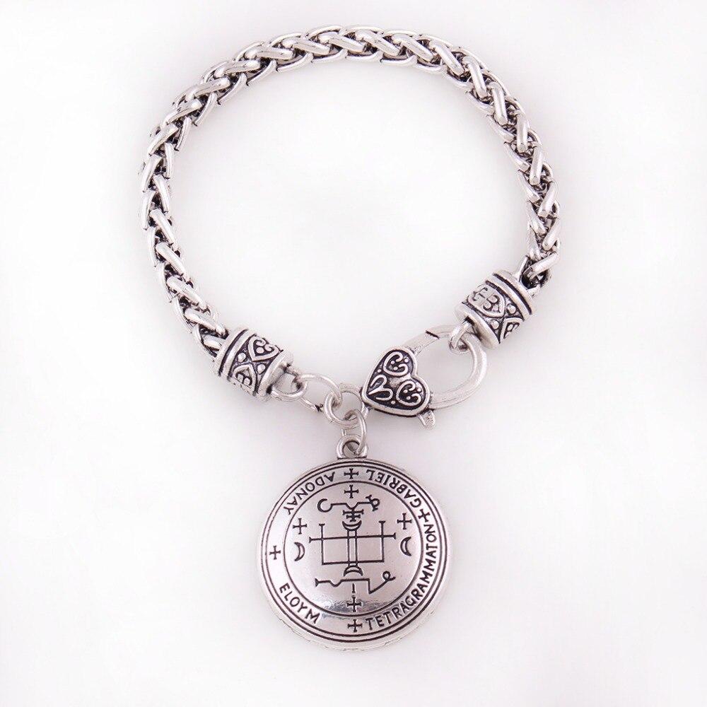 Talismán angelical de Las Estilo vikingo Arcángel GABRIEL con diseño especial, amuleto, Material de aleación de Zinc, triangulación de envíos
