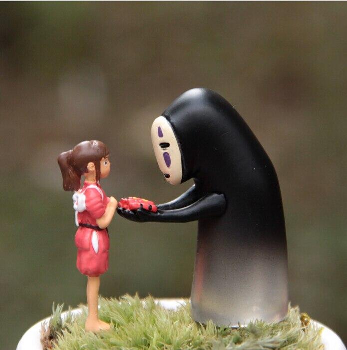 Figuras de acción de Miyazaki Hayao de PVC, Studio Ghibli de Anime japonés sin rostro para niños, Micro paisaje