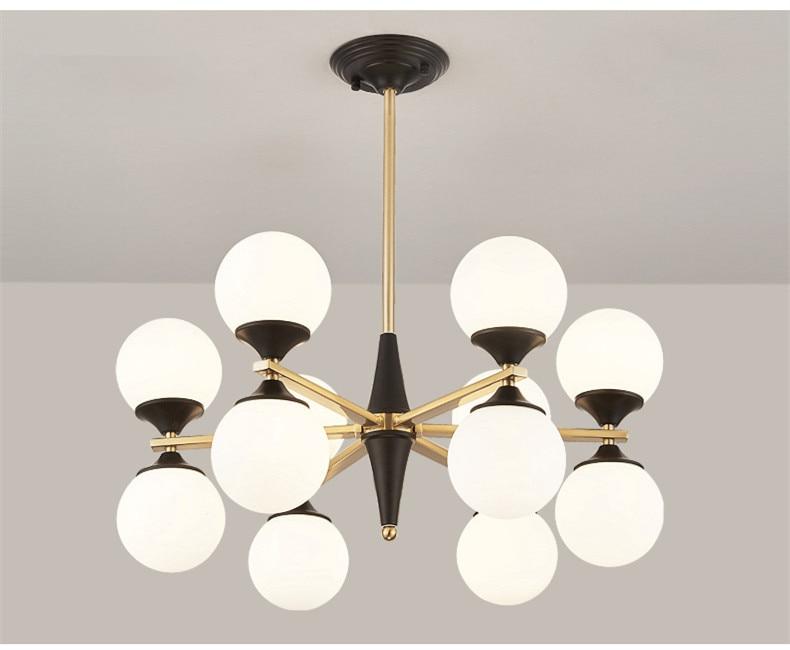 6/8/10/12 Heads Loft Glass Molecule Chandeliers Art Designer Romantic Dinner Living Room G9 Led Hanging Light Fixtures