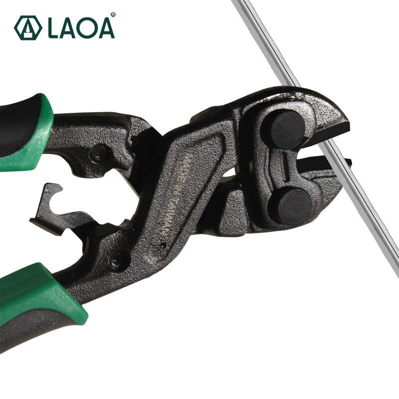 LAOA 8 אינץ חותכי בורג Cr-מו פלדה מספרי תיל עגול האף מספריים 58HRC עם שחור ציפוי טיפול