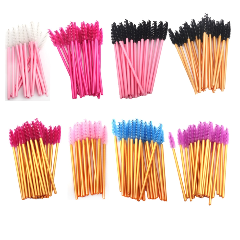 150 шт одноразовая щетка для ресниц, кисти для бровей, палочка, гребень для ресниц, кисти для макияжа, тушь для ресниц, палочки для наращивания ресниц