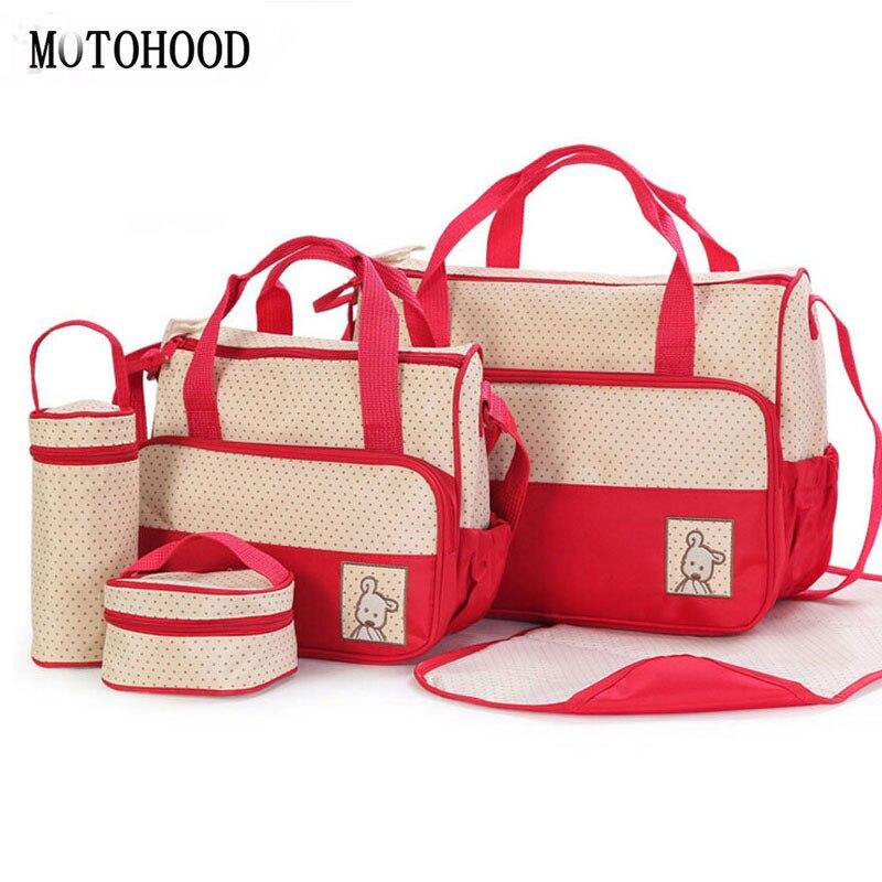 MOTOHOOD 39*28,5*17 см 5 шт. детские пеленки сумка костюмы для мамы держатель для детской бутылочки мама коляска для беременных Подгузники Сумки наборы