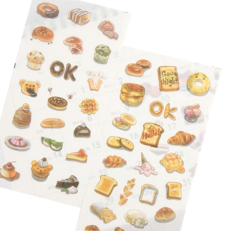 15 упаковок/партия вкусный торт выпечки хлеба Бумага стикеры/сладкий десерт Скрапбукинг DIY оформление альбома, дневника ярлык/девочек Еда дн...