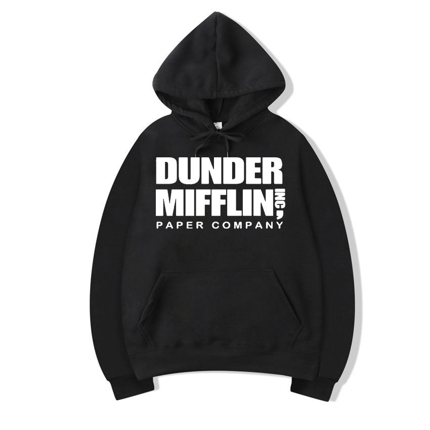 La Oficina sudadera hombres Woemn sudaderas con capucha de lana papel de Dunder Mifflin Inc Sudadera con capucha de cuello redondo Unisex de Moletom femenino con capucha