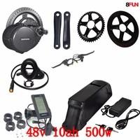 free shipping 48v 500w bbs02b bafang mid drive electric motor kit 48v 10ah 500w battery 48v 10ah electric bike battery