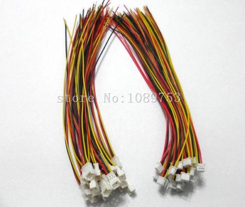 100 زوج مايكرو JST 1.25 3-دبوس الذكور و الإناث موصل التوصيل مع أسلاك الكابلات