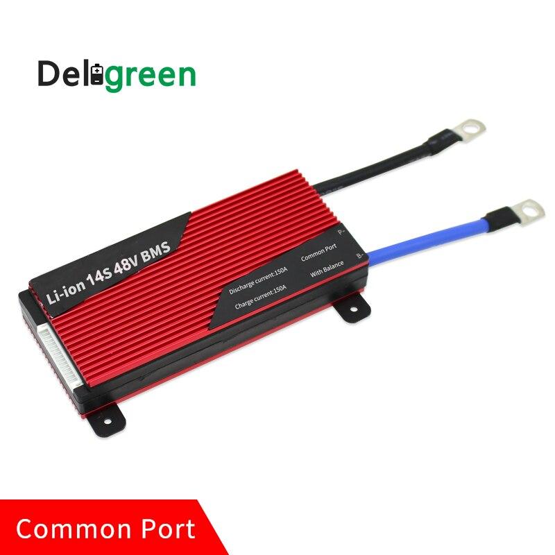 Deligreen 14S 200A 250A 48V PCM/PCB/BMS для 3,7 V LiNCM аккумуляторной батареи 18650 литий-ионный аккумулятор Защитная панель