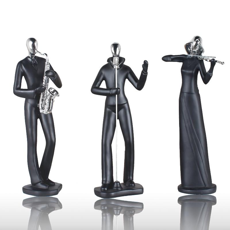 Escultura decorativa moderna de baile/deporte/canto figuritas de resina PREMIO DE COLECCIONES/regalo para evento blanco puro/negro/rojo ornamento