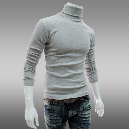 2020 Autumn And Winter Men's Clothing Basic Turtleneck Shirt Slim Male Sanded Turtleneck Long-sleeve T-shirt Thermal Underwear