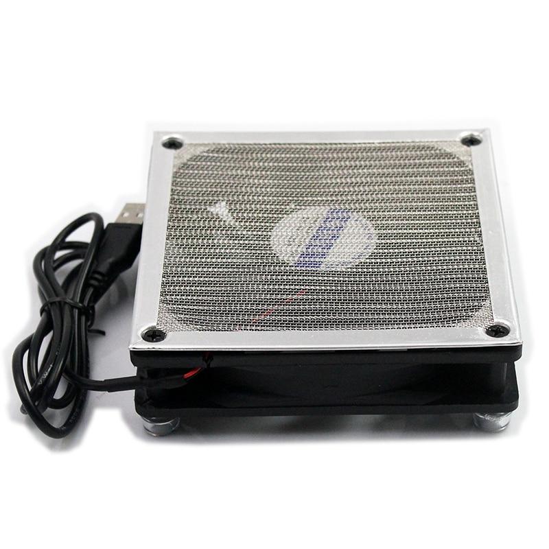 12 см 120 мм USB 5V бесшумный охлаждающий вентилятор, алюминиевая рама решетка, Силиконовая накладка, подходит для маршрутизатора, телеприставка...