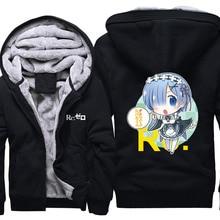Re Zero kara Hajimeru Isekai Seikatsu à capuche Anime Rem Ram Cosplay manteau veste Re la vie dans un monde différent de zéro sweat