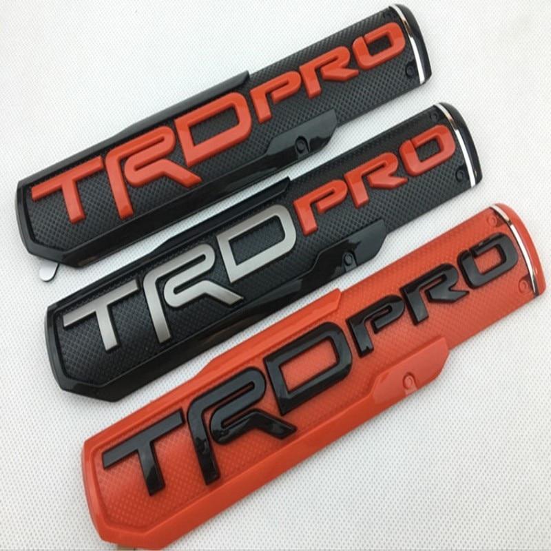 Etiqueta engomada de la insignia del guardabarros delantero del emblema de la puerta del coche TRD Pro para el diseño del coche de carreras de Toyota 1998-2019
