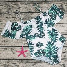 Femme grande taille maillot de bain 2018 une pièce à fleurs maillot de bain pour femmes grande feuille plage natation Vintage baigneur maillot de bain pour femme