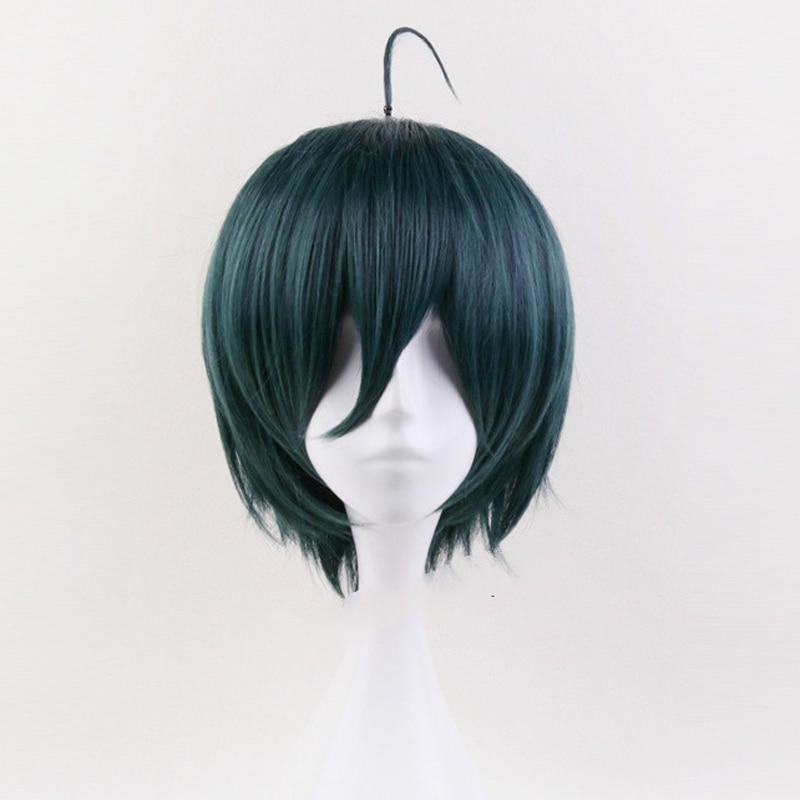 Shuichi saihara peruca cosplay danganronpa v3: matando harmonia traje jogar perucas trajes de halloween cabelo
