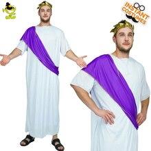 Halloween Men Roman Noble Costume Roman Adult Noble Greek White Toga Men Empire Imperial Caesar Emperor Costumes