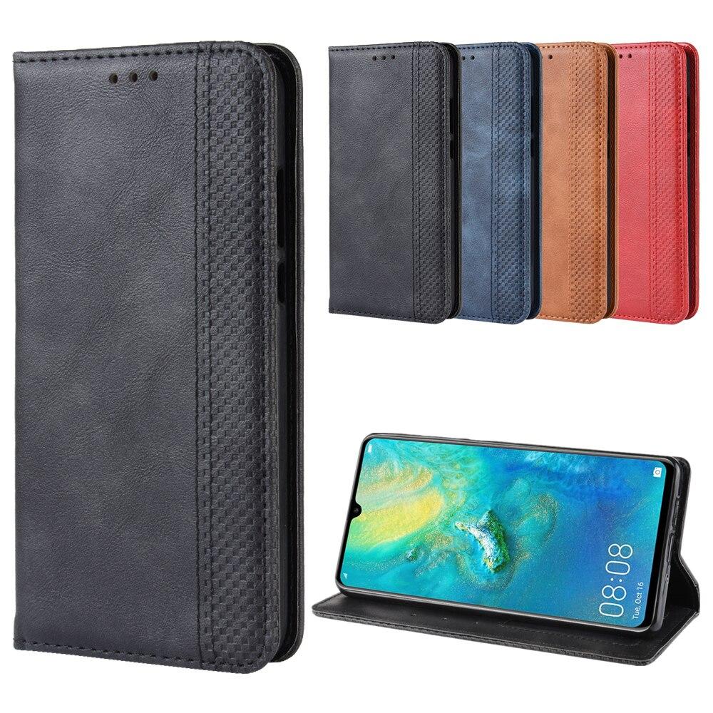 Lujosa funda abatible de cuero Retro y delgada para Huawei Mate 20X, Funda tipo libro magnética con soporte para tarjetas y cartera, fundas para teléfono Huawei Mate 20X 5G
