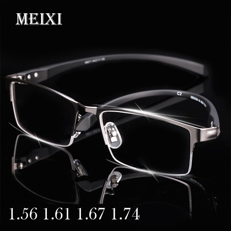 Half Frame Ultralight Photochromism Nearsighted Glasses Resin Nearsight Woman Men Shortsighted Myopia teenager Anti-blue light