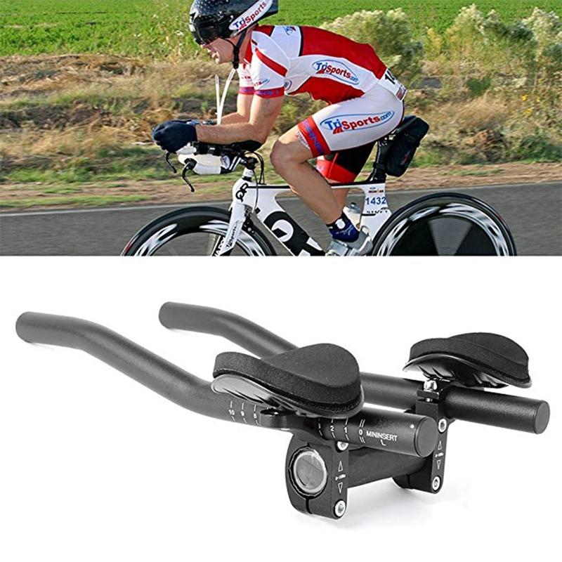 De aleación de aluminio de la carretera de montaña bicicleta de triatlón manillar ciclismo bicicleta MTB resto barra extensor manillar soporte de montaje