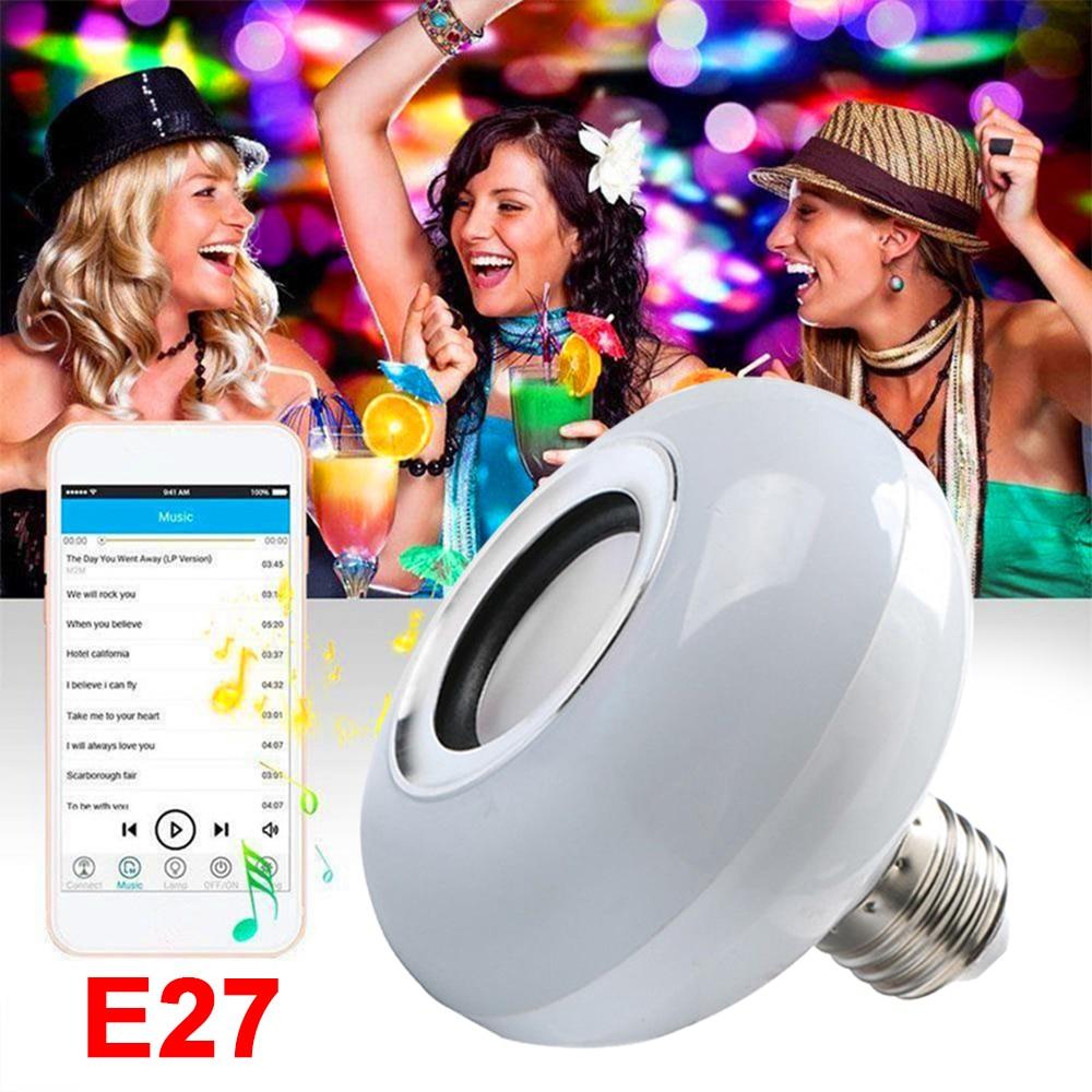 Portable Colorful LED Music Bulb Loudspeaker Speaker Wireless Bluetooth 4.0 RGB Audio KTV Gift Lamp Mini