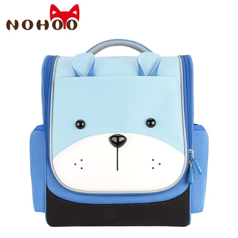 Детские школьные ранцы для мальчиков NOHOO, нейлоновые ортопедические школьные рюкзаки для девочек, рюкзак-мешок для книг, escolares infantis