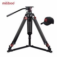 Miliboo MTT609A trépied de caméra à rotule hydraulique professionnel robuste pour caméscope/support DSLR charge de trépied vidéo 15 kg Max